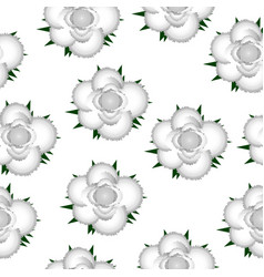 white roses seamless pattern background vector image vector image