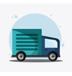 Truck transportation vehicle travel vector