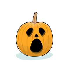 Halloween cry pumpkin vector