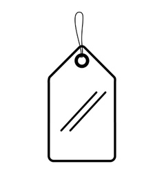 Commercial tag hanging isolated icon vector