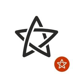 Star linear logo Black color vector image