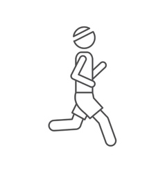 Silhouette pictogram man jogging icon design vector