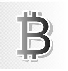 bitcoin sign  new year blackish icon on vector image