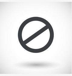 Deny icon prohibited sign with round shadow vector