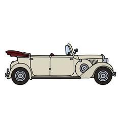 Vintage white convertible vector