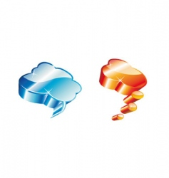 3d comic clouds vector image