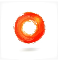 Red business abstract circle icon vector