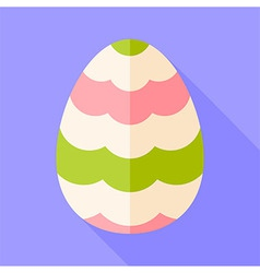 Easter egg with decor vector