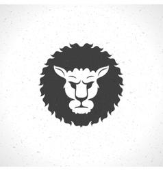 Lion face logo emblem template for business or t vector image