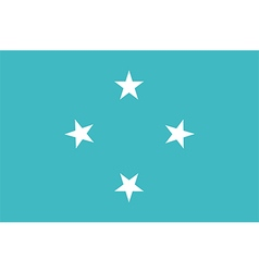 Flag of federated states of micronesia vector