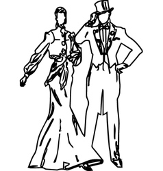 Ladies and gentlemen 19th century fashion vector