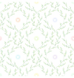 Spring pattern green vector