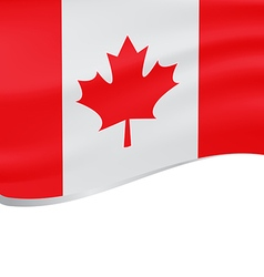 Waving flag of canada isolated on white vector