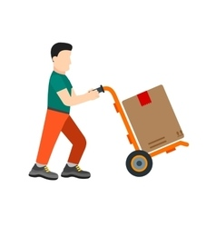 Package delivered vector