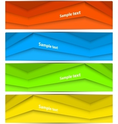 Set of abstract lines banners vector