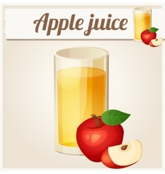Apple juice detailed icon vector