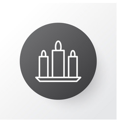 candles icon symbol premium quality isolated wax vector image vector image