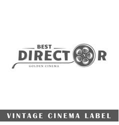 Cinema label vector