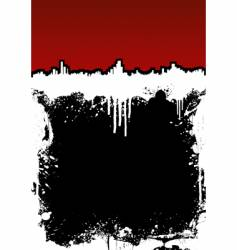 cityscape ink splatter frame background vector image vector image