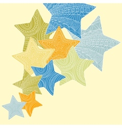 decorative ornate stars vector image vector image