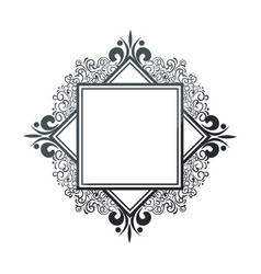 Elegant cute frame icon vector