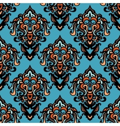 Ethnic tribal damask seamless pattern background vector