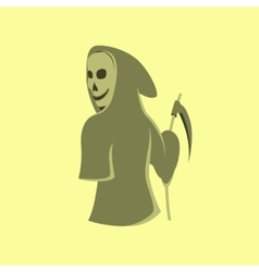 flat on background of halloween death vector image