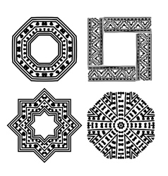 Frame set with ethnic handmade ornament for your vector image