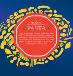 Italian pasta template vector
