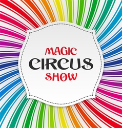 Magic circus show poster vector