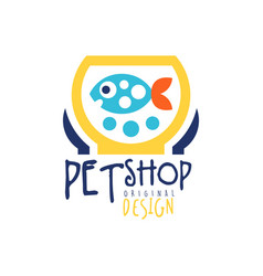 Pet shop logo template original design colorful vector