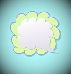 Retro speech bubble on blue background vector image