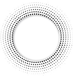 Round banner of pixels Differing halftone ring vector image vector image