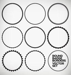 Round Borders vector image