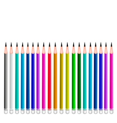 Set of Coloful Sharpened Pencils vector image vector image