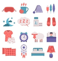 Sleep icons set vector image