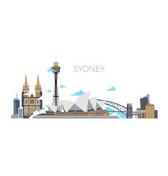 sydney city panorama australia travel vector image vector image