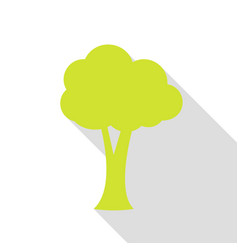 Tree sign pear icon with flat style vector