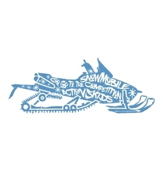 Typography lettering snowmobile vector