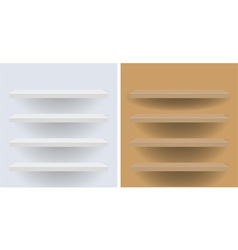 white and beige shelves for your design vector image vector image