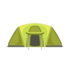 Large green bright color tarpaulin tent vector