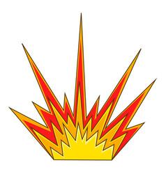 Explode flash icon cartoon style vector