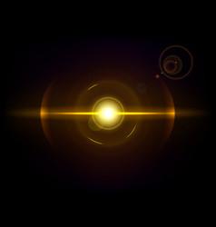 Gold space explosion cosmos burst vector