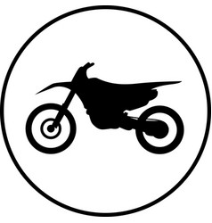 motocross motorbike icon vector image