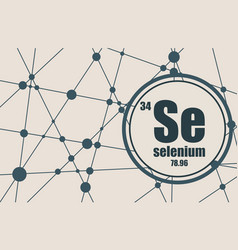 Selenium chemical element vector
