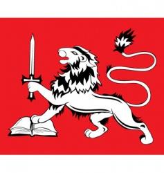 heraldic sign lion vector image
