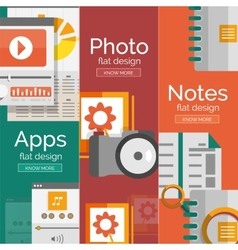 Set of flat design mobility concepts vector image