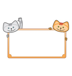 Blank greeting card with cats vector