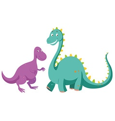 Sauropods big one and small one vector