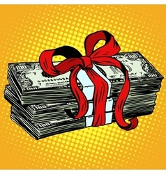 Money as a gift charity and donation vector